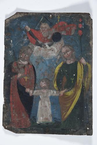 Jesús, María y José con Padre Eterno