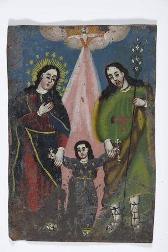 Jesús, María y José con Paloma