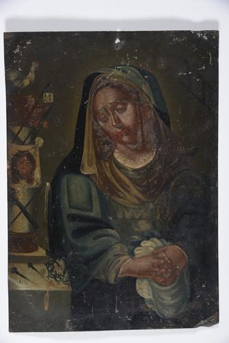 Virgen de los Dolores con Símbolos de Pasión