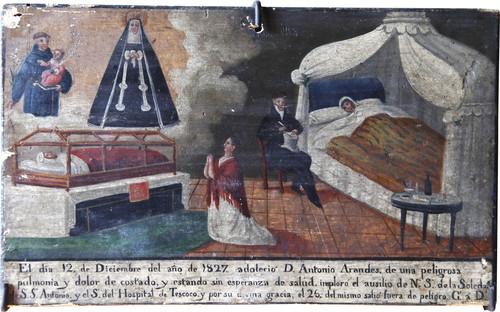 Exvoto del milagro realizado a don Antonio Arandes
