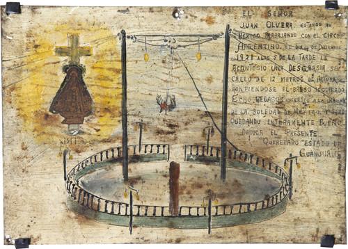 Exvoto del milagro realizado al Sr. Juan Olvera