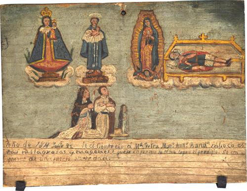 Exvoto del milagro realizado a María Petra