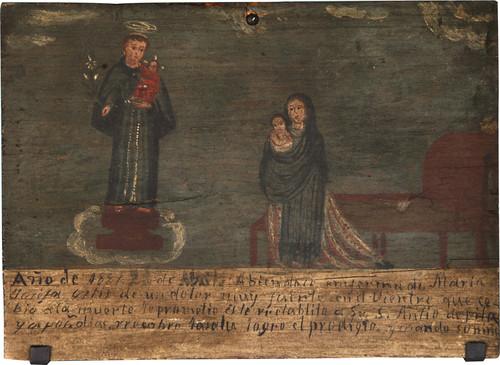 Exvoto del milagro realizado a María Josefa Ortiz