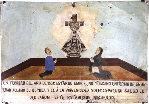 Exvoto del milagro realizado a Marcelino Toscano