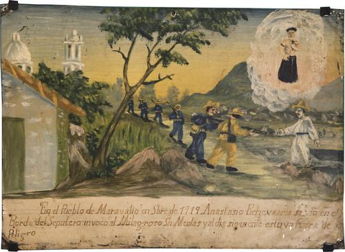 Exvoto del milagro realizado a Anastasio Echevarria