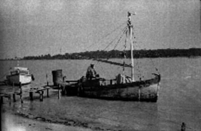 Botes en un embarcadero de Veracruz