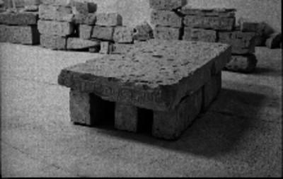 Piezas arqueológícas en El Tajín