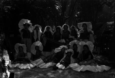 Mujeres tehuanas en un jardín, retrato