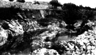 Casa de campo y río