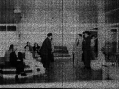 Artistas en la sala de espera de la Asociación Nacional de Actores