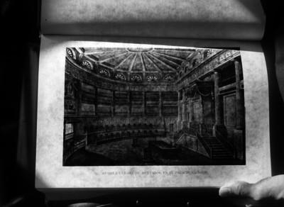 Antigua Cámara de Diputados en Palacio Nacional, dibujo