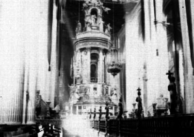 Altar mayor de la Catedral de la ciudad de México