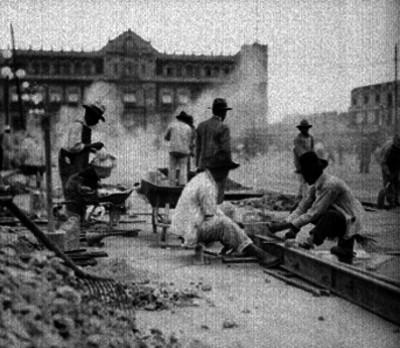 Obras de restauración en la Plaza de la Constitución