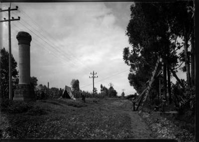 Respiraderos del acueducto Xochimilco, que conduce agua potable a la Ciudad de México