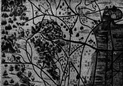Mapa del Valles de México con anotaciones indígenas y españoles