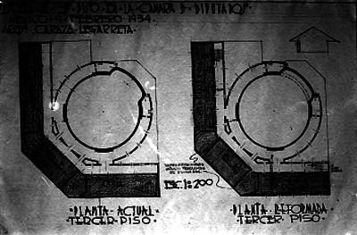 Plano para reformar el tercer piso en la Cámara de Diputados