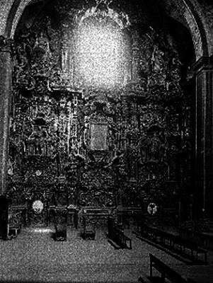 Altar del templo de San Francisco Javier de Tepotzotlán