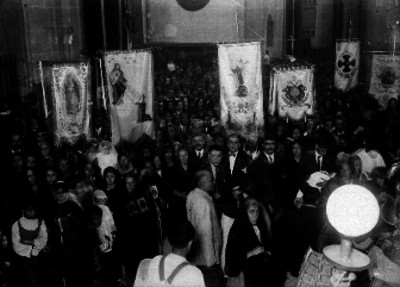 Feligreses durante una ceremonia religiosa