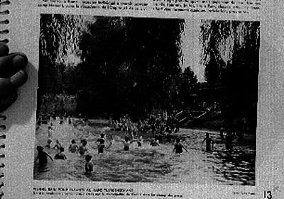 Baño de infantes en el parque Tuerkenschanz
