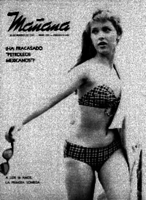 Mujer modelando un bikini