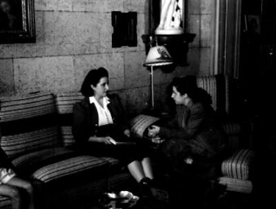 Actriz durante una entrevista