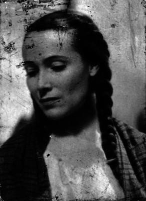 Dolores del Río, actriz, con rebozo, retrato
