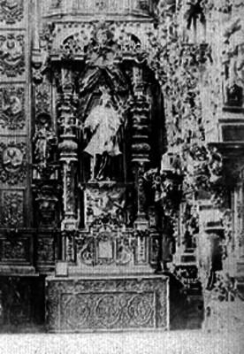 Altar de San Juan Nepomuceno en la iglesia de San Martín