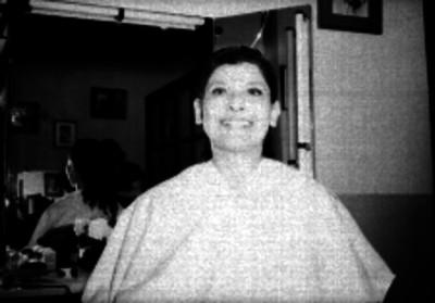 Mujer frente al tocador, retrato