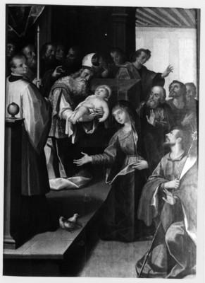 Presentación del niño ante los reyes, lienzo del Museo de Guadalupe