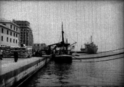 Barco anclados en el puerto de Veracruz