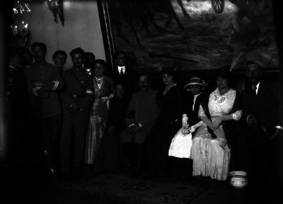 Francisco Cosío Robelo, Rafael de la Torre y familiares en la ceremonia del 15 de septiembre en Palacio Nacional