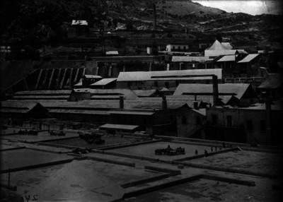 Patios de beneficio y mina de Loreto, vista panorámica