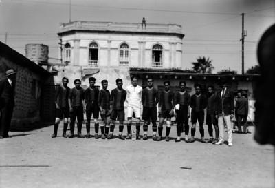 Jugadores del Marte en el Club Reforma, retrato de grupo