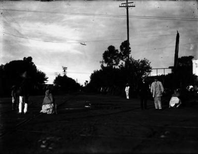 """""""Peatones"""" en una calle de la ciudad de México"""