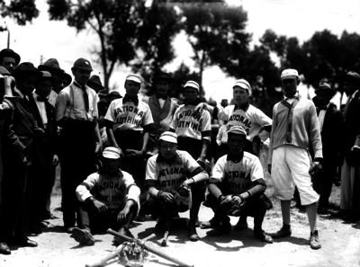 Equipo de beisbol National Clothing, retrato de grupo