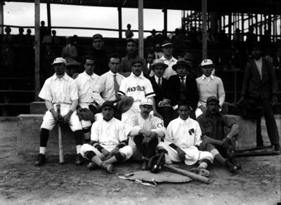 Equipo de beisbol Arquitectura ene l Parque Unión, retrato de grupo