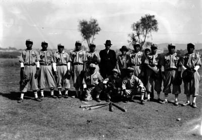 Equipo de beisbol EM, retrato de grupo
