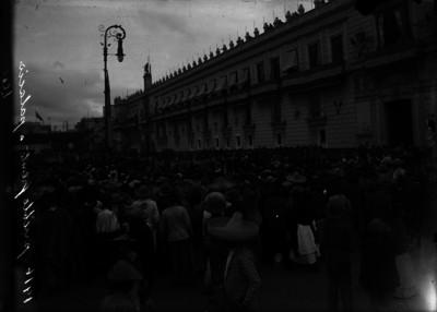 Manifestación de campesinos frente a Palacio Nacional