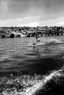 Esquiador durante una competencia