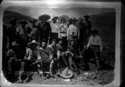 Comisión zapatista con Gral. Villa en Guadalupe, Zac