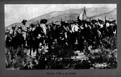 Francisco Villa y sus tropas en campaña