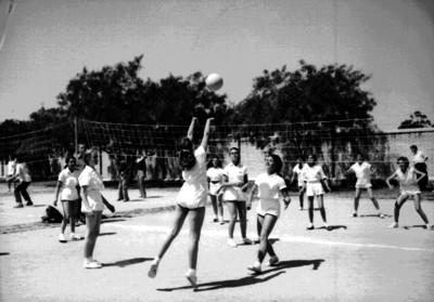 Encuentro femenil de voleibol