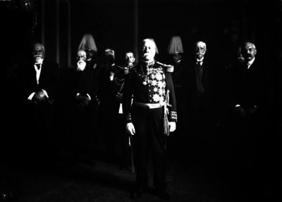 Porfirio Díaz y miembros de su gabinete en Palacio Nacional