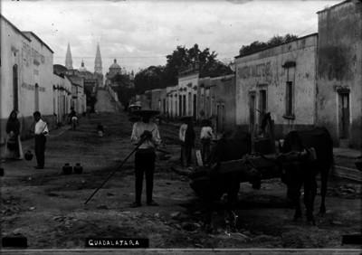 """Vida cotidiana en una calle de """"Guadalajara"""""""