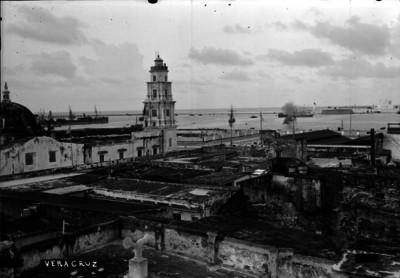 """Puerto de """"VERACRUZ"""", vista parcial"""