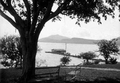 Embarcadero en el lago de Chapala, vista general