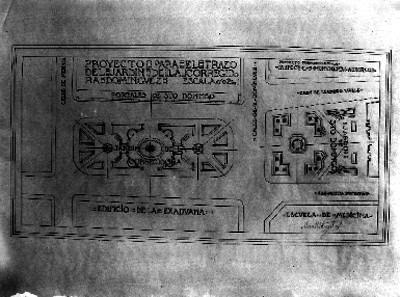 Proyecto para el trazo del jardín de la corregidora Domínguez