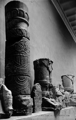 """Esculturas prehispánicas exhibidas en el """"Museo Nacional"""""""