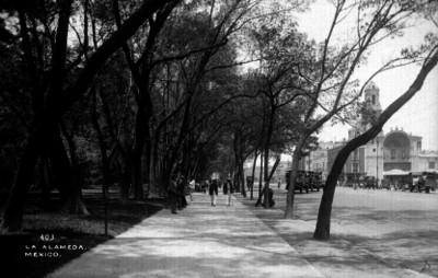 """Gente en """"la Alameda"""""""