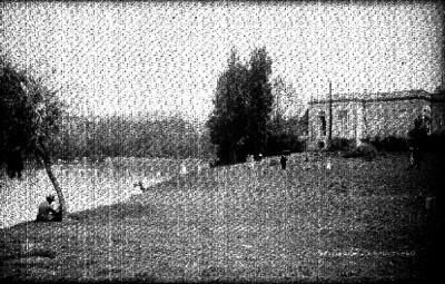 Casa del lago y castillo de Chapultepec al fondo